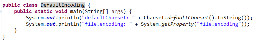 java code Charset default charset file.encoding system getProperty